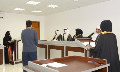 Organized by the College of Law .. the Moot Court represented one of the justice scenes